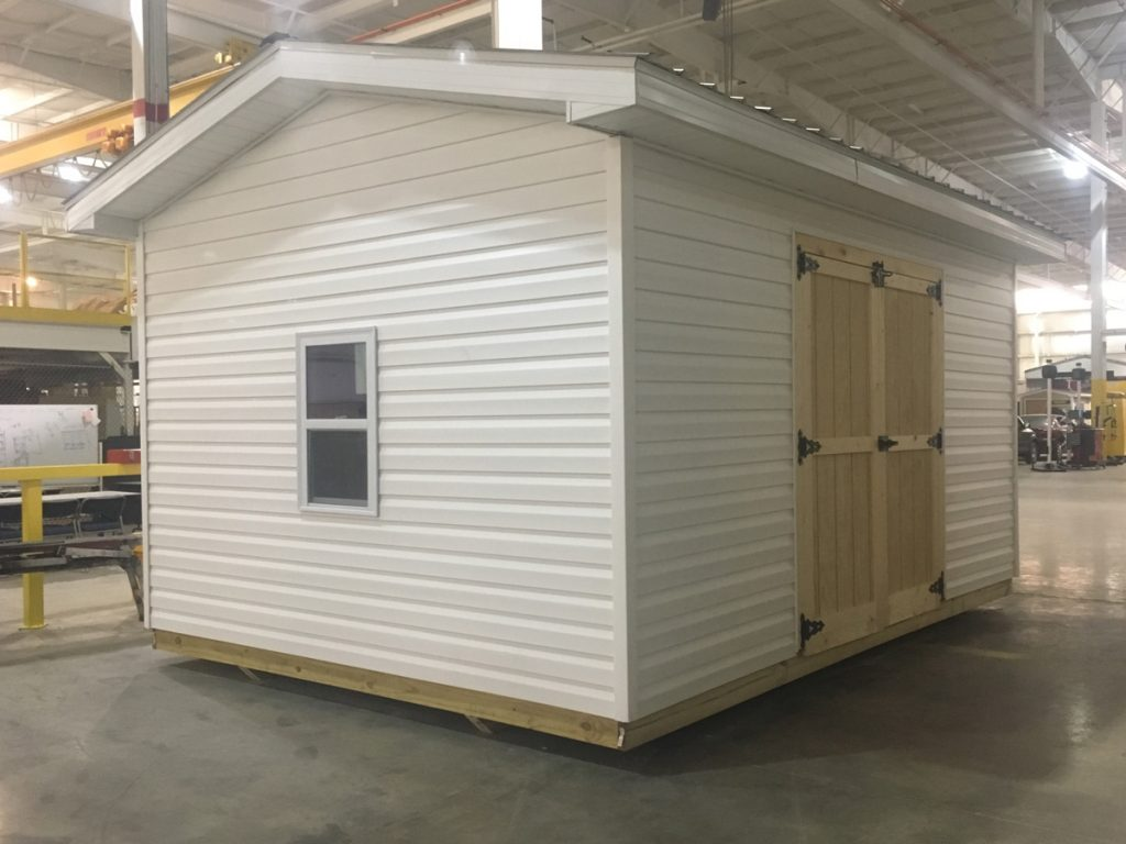 Students in New River CTC's Advanced Building Skills class built a storage building during the class in the spring.