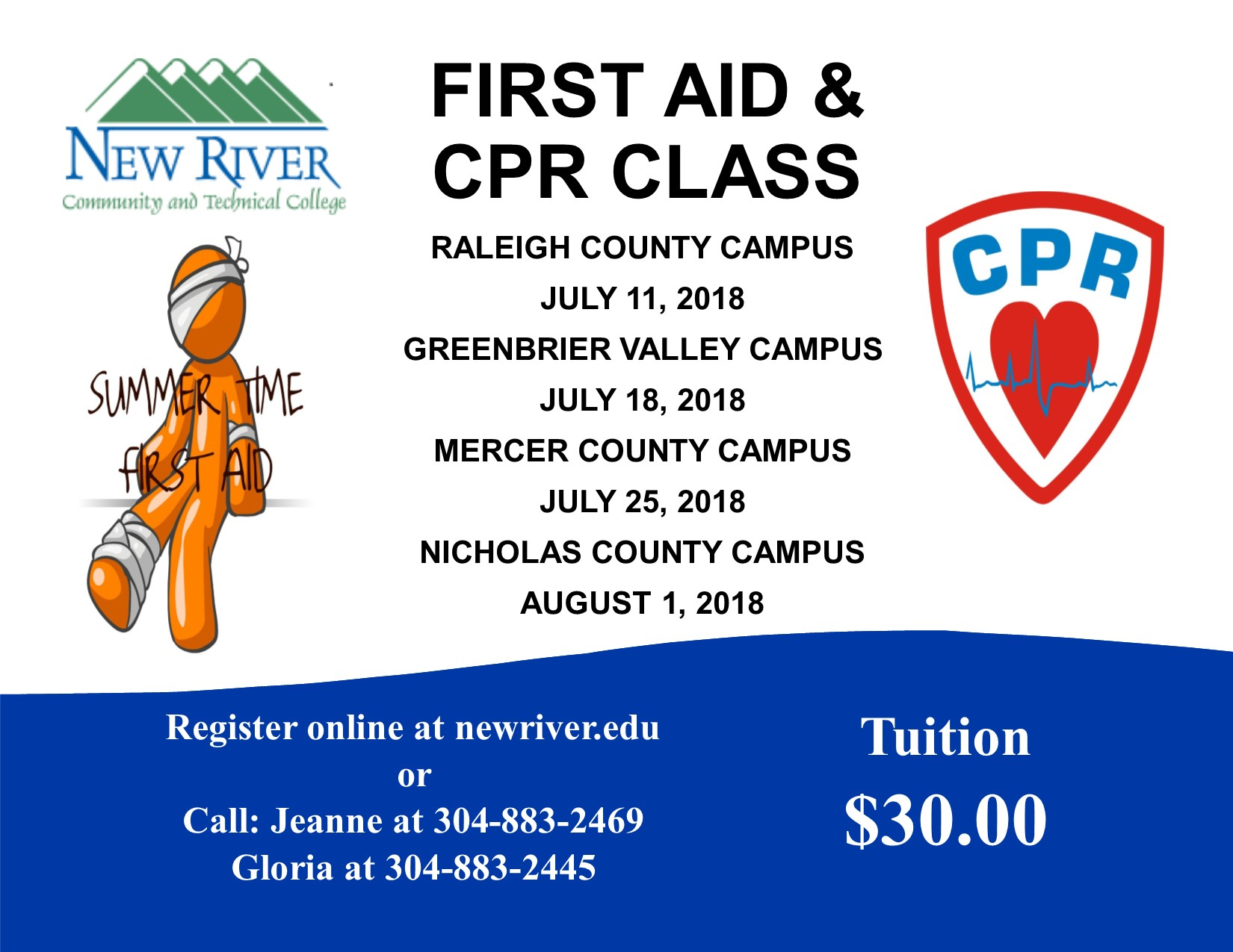 First Aid And Cpr Trainings Scheduled At New River Ctc New River