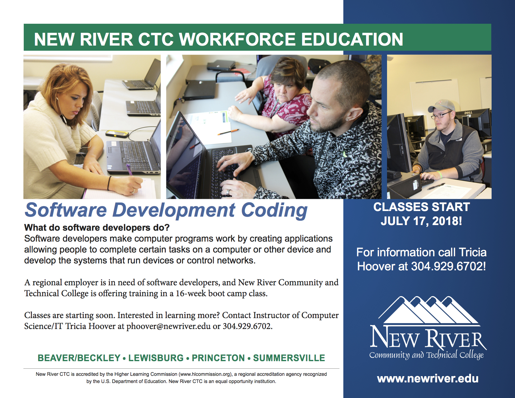 Software Development Coding Boot Camp Starting In July At